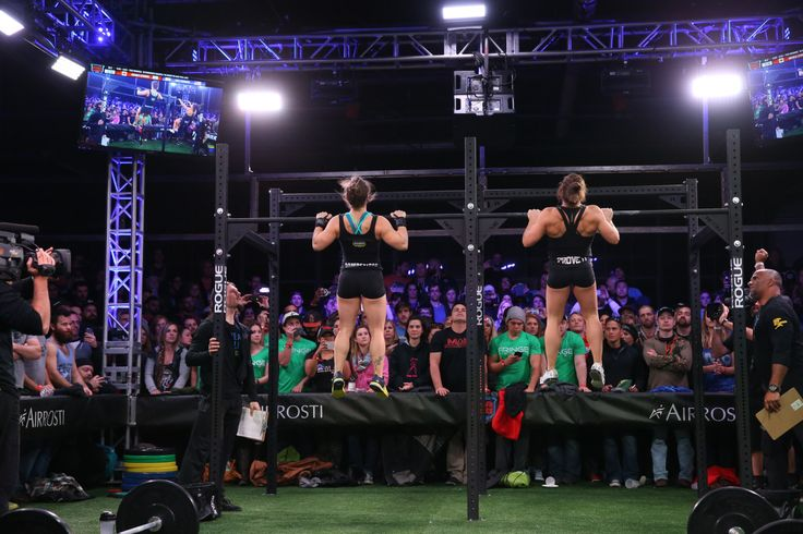 Emily Bridgers and Michelle Letendre going head to head for the live announcement of Open Workout 15.2 at CrossFit Jääkarhu in Austin, Texas.   #CrossFit #CrossFitGames