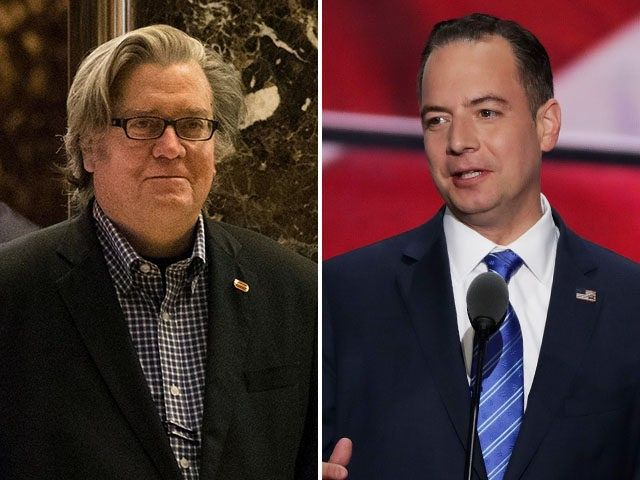 Trump Names Steve Bannon as White House Chief Strategist and Reince Priebus as Chief of Staff - 11/13/16