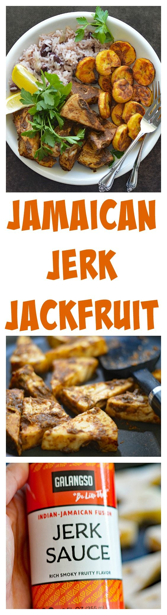 Jamaican Jerk Jackfruit with Rice and Beans