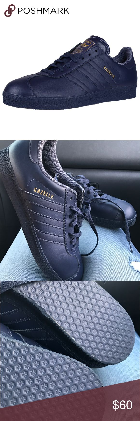 Adidas Gazelle 2 Retro Running Shoes Navy Sneakers Smoke free home. New without box. Men's size 7.5 - women's size 8.5 Adidas Shoes Sneakers