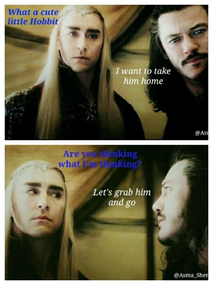 """Could you imagine the conversation they would have with Thorin? """"You can keep your gold and jewels as long as we get the hobbit."""""""