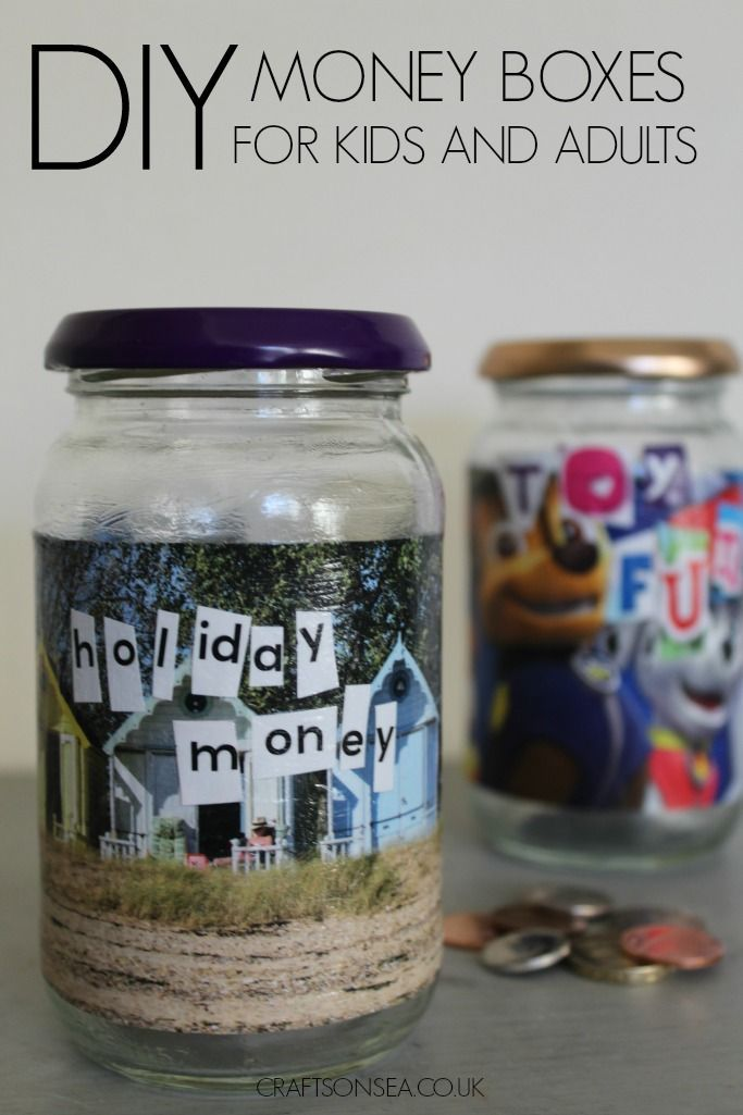 A super simple but super cute DIY money box that kids or adults can make plus 6 of my favourite DIY money ideas with easy to follow tutorials!