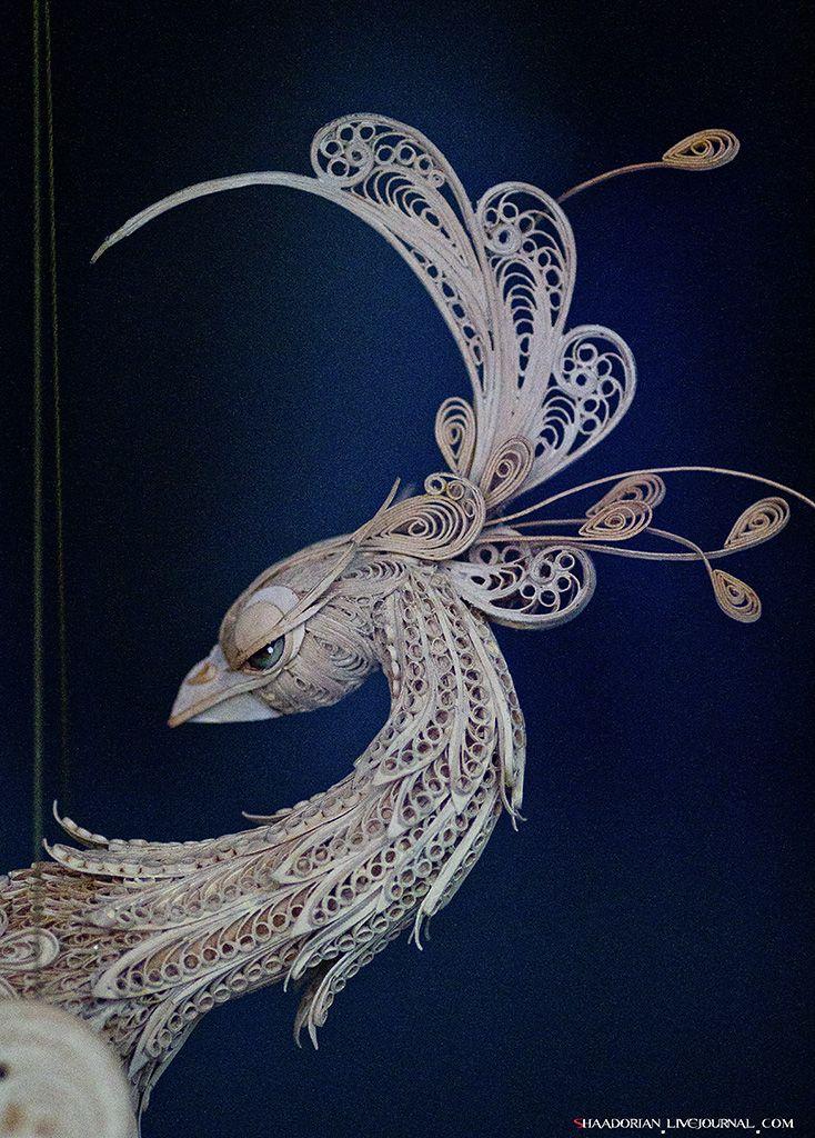 """Beautiful Peacock quilling  """"Пространство кукол"""" в Ветошном. Комментарии : LiveInternet - Российский Сервис Онлайн-Дневников"""