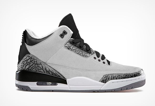 Authentic Jordan Retro 3 Wolf Grey For Sale Online Free Shipping  http://www.theblueretros.com/