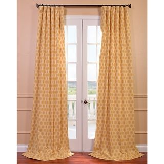 @Overstock.com - Honeycomb Printed Cotton Curtain Panel - This window curtain panel will make any room look warm and inviting. The rich yellow hue is patterned with a honeycomb print that adds to the curtains' character. A simple rod-pocket construction allows this panel to be easily installed.  http://www.overstock.com/Home-Garden/Honeycomb-Printed-Cotton-Curtain-Panel/8232579/product.html?CID=214117 $76.99