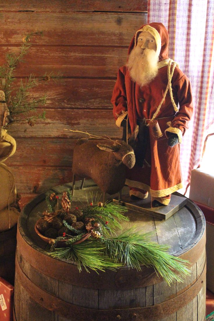Primitive christmas ideas to make - Primitive Arnett Santa