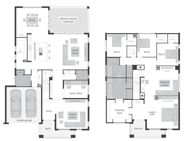 tallavera 45 two storey home floor plan the tallavera celebrates the magic formula for - Modern Family House Plans