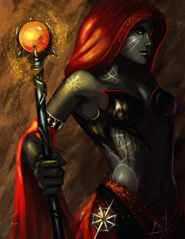 Image result for dark elf mage female
