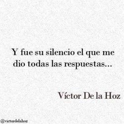 Y fue su silencio el que me dio todas las respuestas