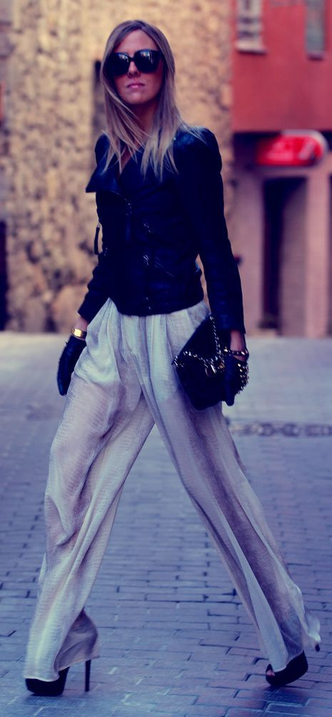 High Waisted Palazzo Pants Outfit Idea by Style Lover