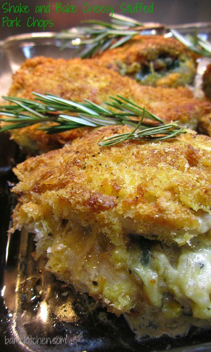 10********** Great stuffing and pork chops definitely make it again.  Shake and Bake Cheesy Stuffed Pork Chops_Long