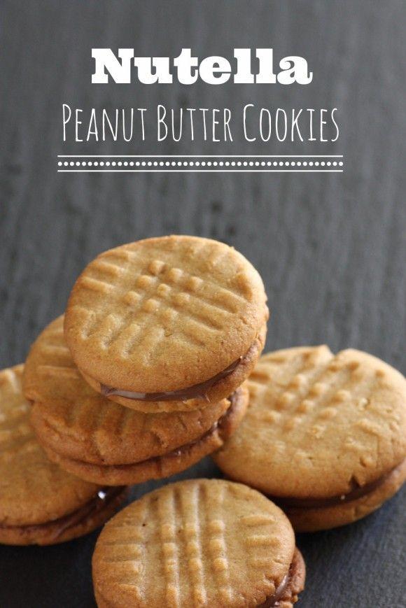 Nutella Peanut Butter Cookie Recipe | CatchMyParty.com