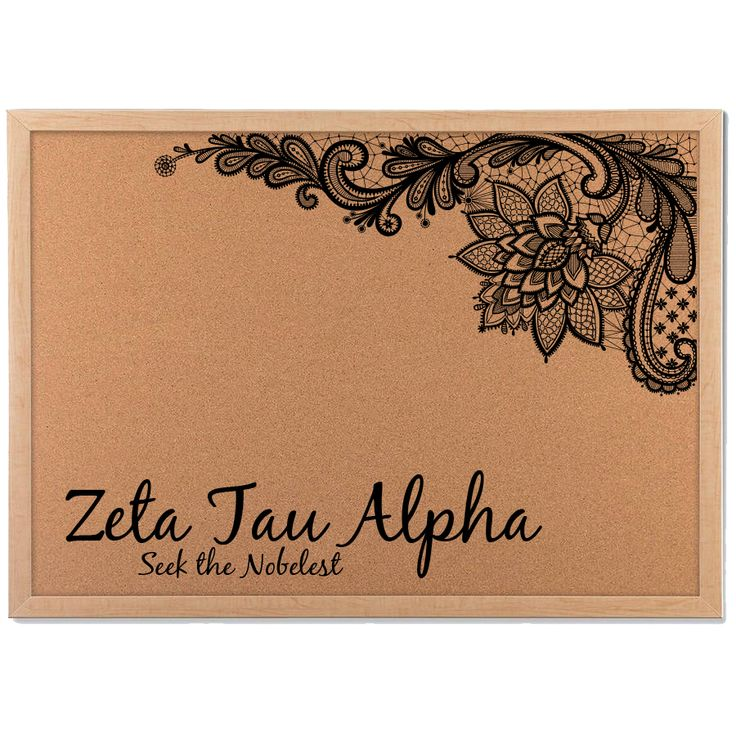 Sorority President? Keep all your ideas together for the Chapter on this customized cork board!  Cork board; Customize; Sorority Gift; Sorority Crafts; Zeta Tau Alpha; Chi Omega; Alpha Xi Delta; Delta Zeta