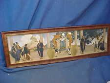 Orig 1920s MAXFIELD PARRISH Framed OLD KING COLE Illustrated PANORAMIC PRINT