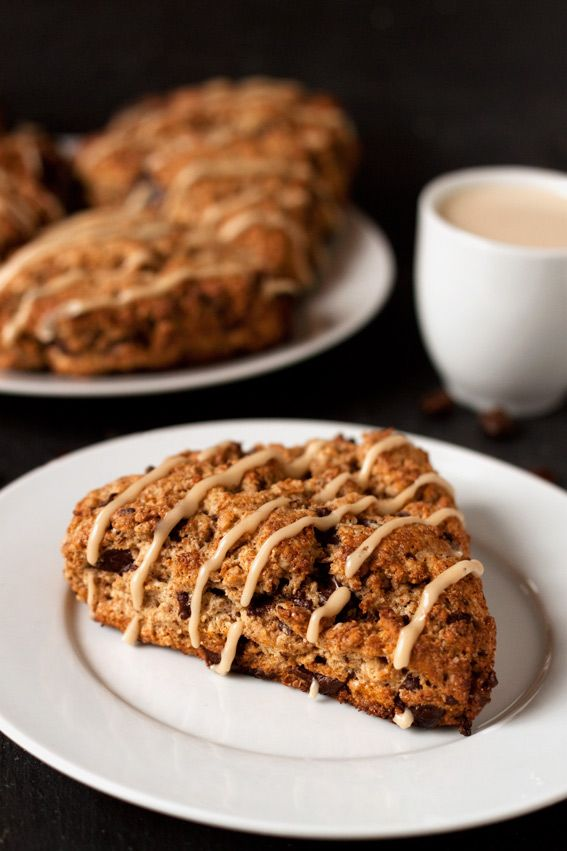 Espresso Chocolate Chip Scones @Dinners, Dishes, and Desserts  via @Erin (Texanerin Baking)