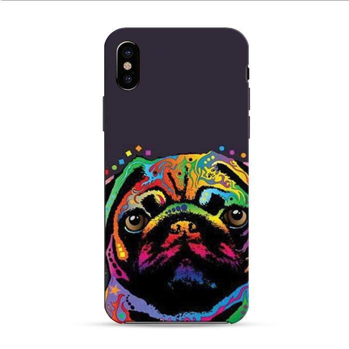 Pug Pop Art 2 iPhone X 3D Case