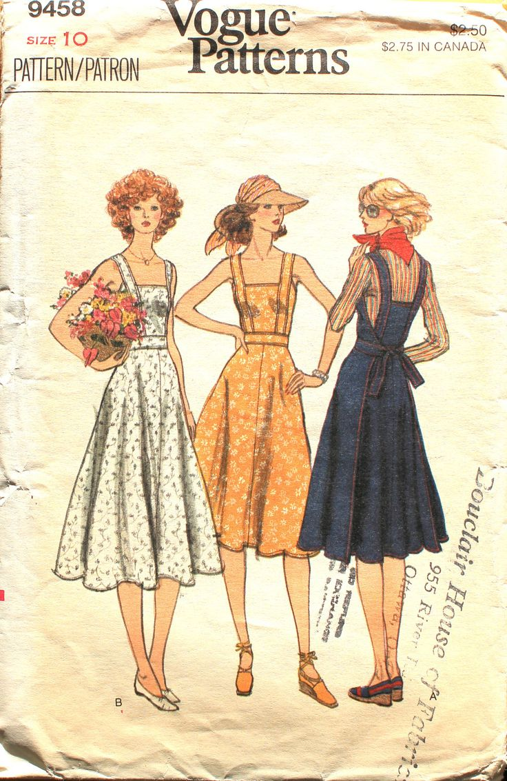 Tie Back Sundress or Jumper Sewing Pattern