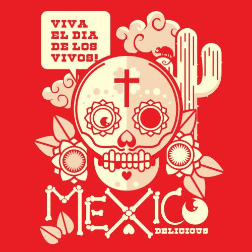tags: illustration, typography, skull, mexico  ethanllewis:    uberjunkie:    Skull of the dayMexico, Illustration, Art, Of The, Day, Dead, Day, Viva El, Los Vivo