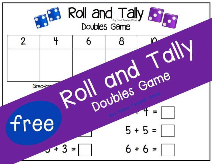 FREE Roll and Tally Doubles Game