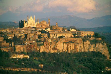 The dramatic setting of Orvieto.
