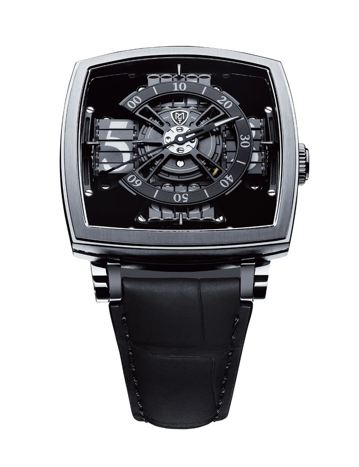 Manufacture Contemporaine du Temps Vantablack Watch. This watch uses the blackest man made material (Vantablack) for the background of the dial.
