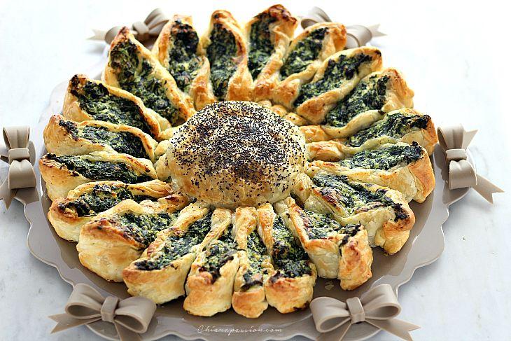 Torta a fiore (Girasole di pasta sfoglia) | Chiarapassion