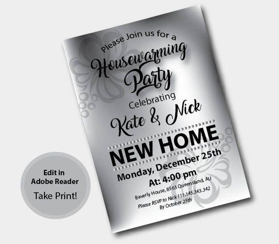 Die Besten  Housewarming Invitation Templates Ideen Auf