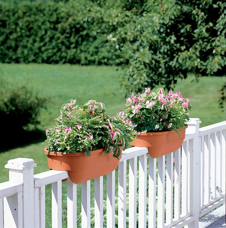 "32 Best Deck Rail Planters Images On Pinterest: 24"" 2 X 4 ""Saddle Planter"" For Porch, Deck, Balcony"