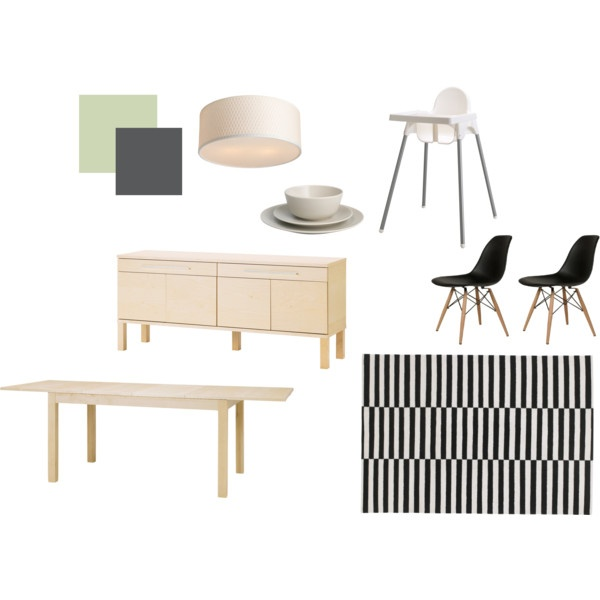 """ikea dining room"" by lovelylucille on Polyvore"