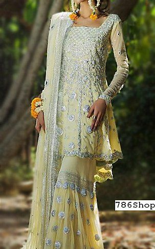 9559eae0c1 Cream Chiffon Suit | Buy Pakistani Fashion Dresses and Clothing Online in  USA, UK
