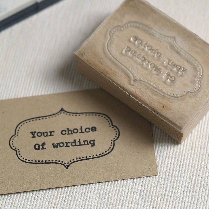 personalised rubber stamp by pretty rubber stamps | notonthehighstreet.com