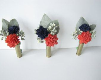 Popular items for navy and coral on Etsy