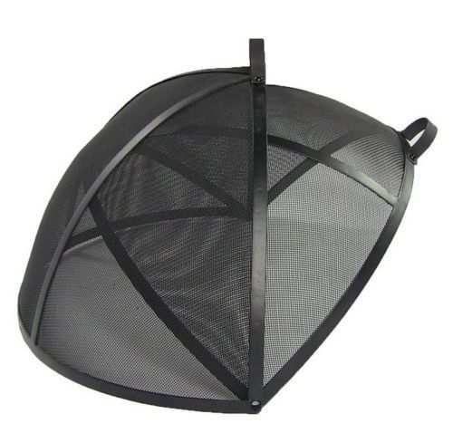 Fire Pit Screen Spark Round Easy Access Firepit Replacement Outdoor Campfire New