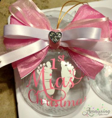 Baby's First Christmas Ornament! Gorgeous Ornament Handmade! #BabysFirstChristmasOrnament #BabysFirstChristmas #Baby #BabyGift #BabyShowerGift