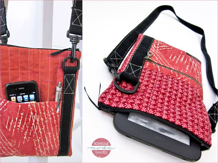 eReader/Device Carrier with Pockets and Shoulder Strap (really clear, detailed tutorial) - Sew4Home