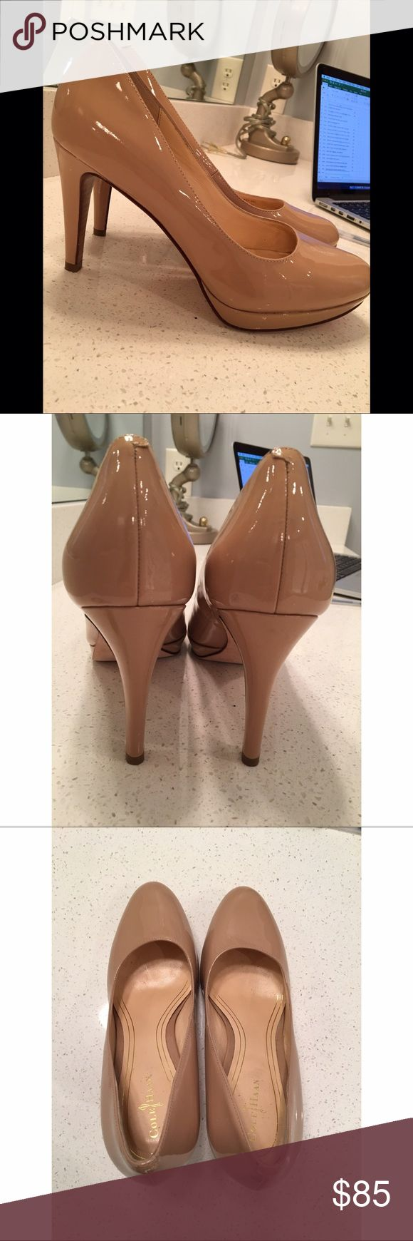 Cole Haan 'NikeAir' Nude Pumps, Size 9B Awesome classic Heels. Cole Haan with NikeAir. Size 9B. Fit like a regular 9. Nude color. Cole Haan Shoes Heels