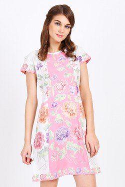 BATIKFLO Erin Dress Encim pink-putih