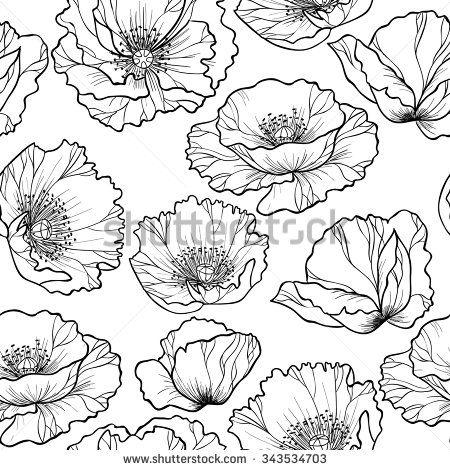 jasmine flower outline...
