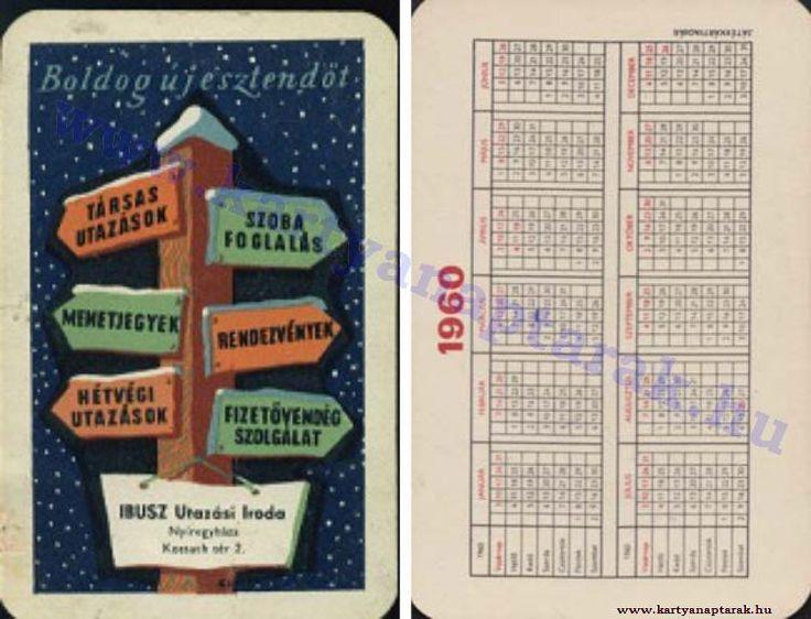 1960 - 1960_0091 - Régi magyar kártyanaptárak