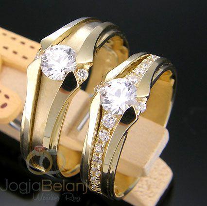 Cincin Kawin Nisa Marla Perak Lapis Emas kuning