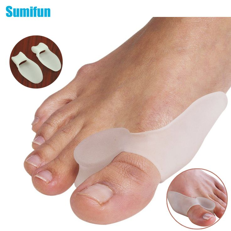 2Pcs Silicone Gel Bunion Splint Big Toe Separator Overlapping Spreader Protection Corrector Hallux Valgus Foot Massager C147 *** Click the image to visit the website