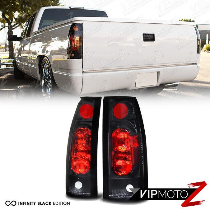 L@@K 88-98 Chevy 1500 2500 3500 GMC Tahoe Yukon Black Tail Light Rear Pair LH RH #VIPMOTOZ
