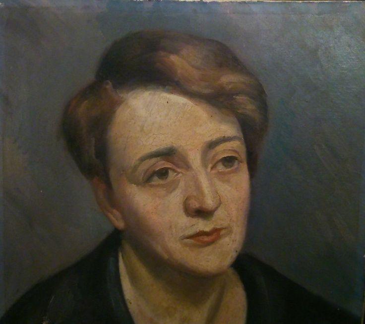signé BRABO  ma sœur  ancienne huile sur toile XIX XX° titré Portrait femme (8F)