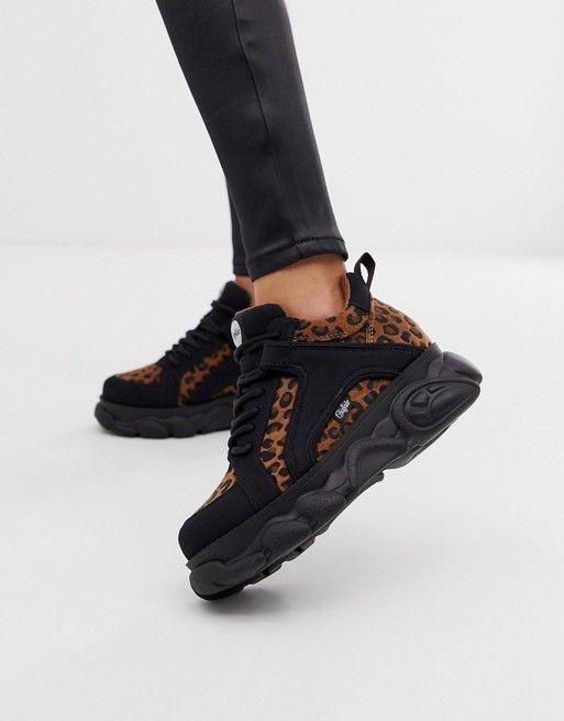 74c60547d Buffalo Colby exclusive low platform chunky sneakers in leopard | ASOS