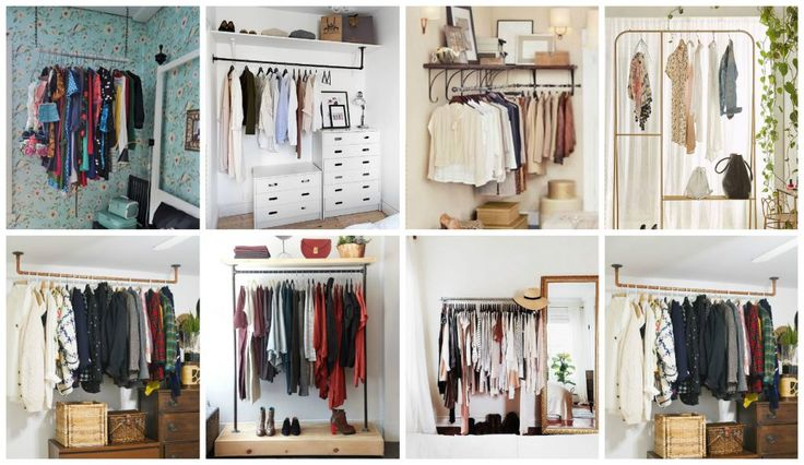 21 Really Inspiring Makeshift Closet Designs For Small Spaces | Architecture, Art, Desings | Bloglovin'