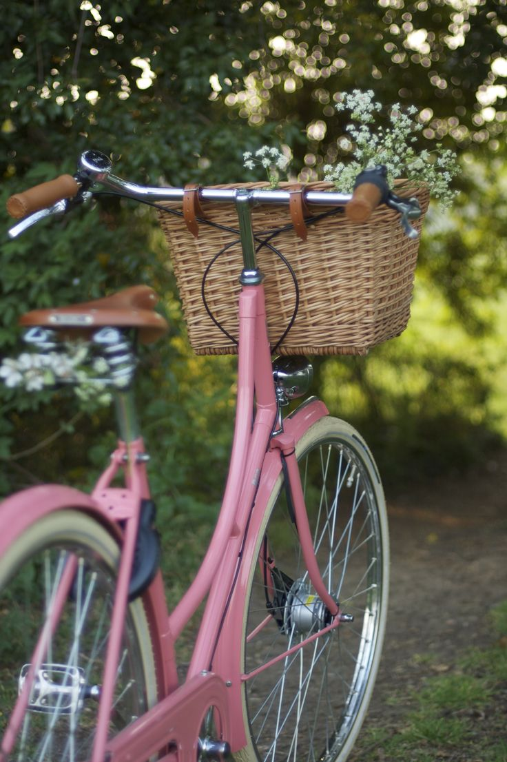 lovely old fashioned bike with basket