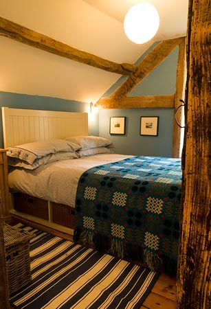 Good place to stay Llyn Howell, near Garth, Builth Wells - bedrooms have our welsh blankets on the beds and very dog friendly!