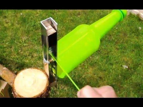 Genius guy transforms plastic bottles into super strength plastic rope.
