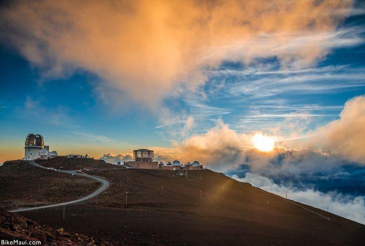 Haleakala crater at sunset, at Haleakala National Park, Maui, Hawai'i
