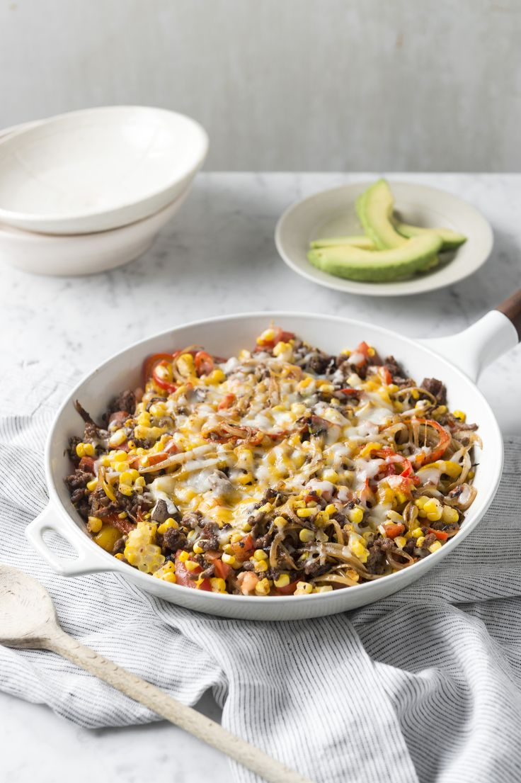 """The melted cheese, savory beef and seasoned bell pepper """"noodles"""" in this dish are irresistible. With an easy cleanup, too, what's not to love?"""
